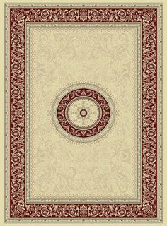 Noble Art 6572/191- Cream/Red- Rugs and Runners- CIRCLES AVAILABLE- Buy Online at Rugs Direct 2U