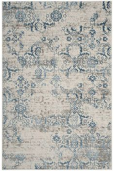 Safavieh Artifact Blue and Creme x Area Rug Classic Rugs, Transitional Decor, Old World Style, Sewing Rooms, Grey Carpet, Bedroom Carpet, Floor Decor, Rugs On Carpet, Carpet Decor