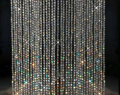 Iridescent Crystal Beaded Curtains 3ft X 6ft | Bead Curtains, Crystals And  Beads