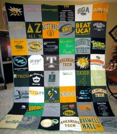 Tshirt quilt tutorial... I need this for later!!