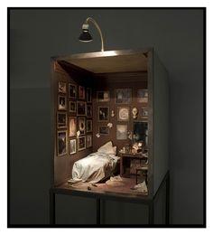 Charles Matton~ A Romantic Collector's Bedroom. Image via All Arts visual © Charles Matton.