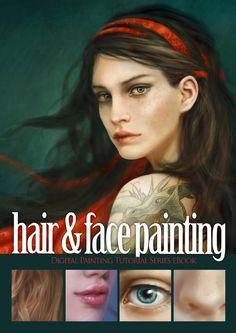 Arte no Papel Online: Hair & Face Painting Photoshop Elements Tutorials, Photoshop Tutorial, Photoshop Actions, Art Tutorials, Photoshop For Photographers, Photoshop Photography, Digital Painting Tutorials, Digital Paintings, Digital Art
