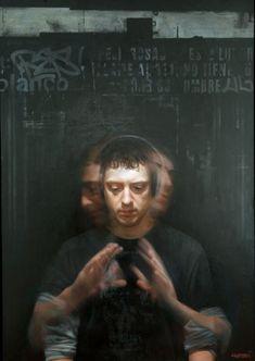 David Kassan - Self Portrait in Motion David Jon Kassan (born 1977 in Little Rock, Arkansas) is a contemporary American painter best known for his life-size realist portraits.