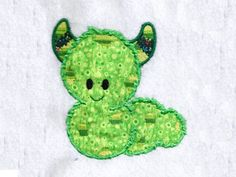 Cute Applique Monsters Machine Embroidery Designs http://www.designsbysick.com/details/cuteappmonsters