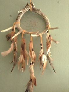 Deer Antler  Dream Catcher rooster goose pheasant by CydsCreations, $55.00
