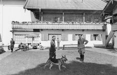 """in-the-wars: """"Max Wunsche and Karl Brandt at the Berghof. """""""
