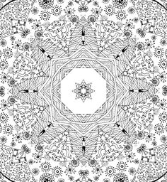 Detailed Coloring Pages For Adults | Please use the mandala for your personal growth and delight.