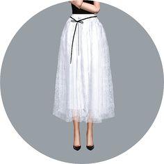 Ribbon Ballerina Long Skirt_ Ribbon Ballerina Long Skirt _ Women's Costumes - SIMS4 marigold