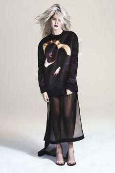 """Sky""   Model: Sky Ferreira, Photographer: Andrew Yee, S Moda Magazine, March 2013"