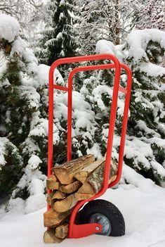 Firewood Holder, Shovel, Fire Wood, Snow, Red, Outdoor, Design, Outdoors, Dustpan