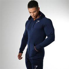 2016 autumn Gymshark Mens Hoodies camisetas pullover hombre coat Bodybuilding fitness jacket Sweatshirts Muscle men sportswear