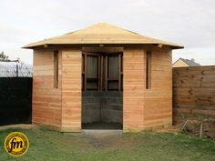 Bardage cabane de jardin d'angle