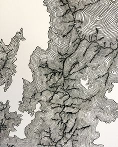 Topographic Map of the Grand Canyon on Three by TheAgeOldTrade