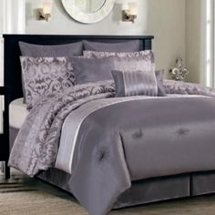 Make a contemporary statement with theis Kirkwood comforter sets, f...