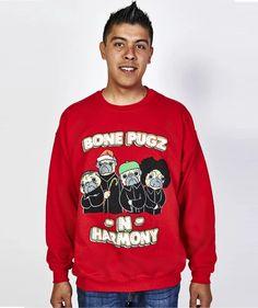 BONE PUGS - Red – Snowtorious Funny Christmas Outfits, Tacky Christmas Sweater, Sweater Outfits, Holidays And Events, Pugs, Graphic Sweatshirt, Plus Size, Unisex, Sweatshirts