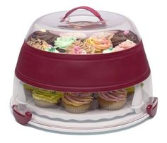 Progressive bcc 1 Collapsible Cupcake and Cake Carrier | eBay