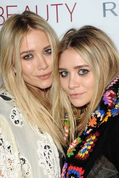 Mastering Mary-Kate and Ashley's go-to look is actually quite easy — skin is always dewy, lips and eyes are likely matte.  #refinery29 http://www.refinery29.com/2016/06/113300/olsen-twins-beauty-evolution#slide-16