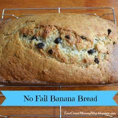 No Fail Banana Bread recipe from @Gina Bell (aka East Coast Mommy)