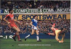 21 September 1985 Graeme Sharp beats Grobelaar to score in the Goodison derby
