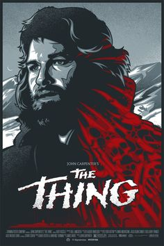 An alternative movie poster for the film The Thing, created by James White, aka Signalnoise, featured on AMP Horror Movie Posters, Cinema Posters, Movie Poster Art, Poster S, Horror Movies, James White, Sci Fi Movies, Scary Movies, Old Movies