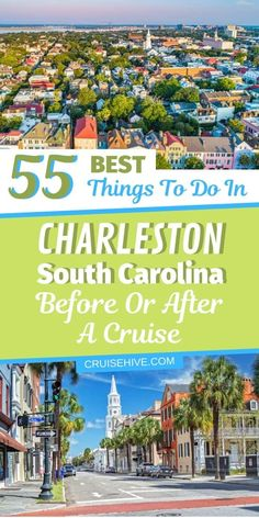 Here are 55 of the best things to do in Charleston, South Carolina before or after your cruise vacation. Plenty of travel tips and sightseeing. Best Cruise, Cruise Port, Cruise Tips, Cruise Travel, Cruise Vacation, Travel Usa, Travel Tips, Vacations, Cruise Excursions