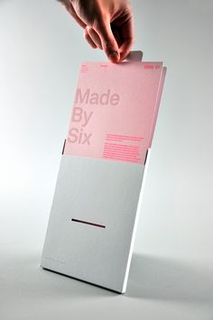 —Six limited edition promotional mailer; love simple font combined with unusual spacing or alignment and maybe an extra element like the horizontal line