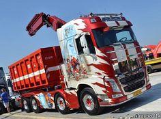 VOLVO FH. Speciaaltransport. LAADKRAAN. Show Trucks, Big Rig Trucks, Dump Trucks, Volvo Cars, Volvo Trucks, Brush Truck, Ashok Leyland, Scania V8, Truck Paint