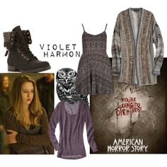 violet american horror story outfits - Google Search