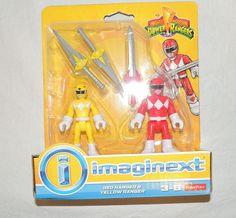 NEW Imaginext Mighty Morphin' Power Rangers, Red, Yellow, 2 Pack Fisher Price #FISHERPRICE