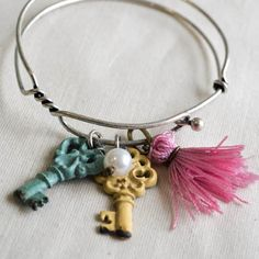 CANDACE BRACELET  Item #PB159  This adjustable bangle is the perfect add on to your wrist.  8.5″ adj.  $15