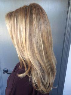 Natural Looking Honey Blonde Highlights