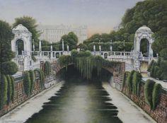 Stadtpark und Wienfluß Vienna, Mansions, House Styles, Art, Graphics, Pictures, Urban Park, Art Background, Manor Houses