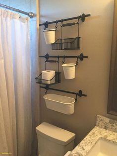IKEA Fintorp system to organize small bathroom spaces with little to no storage Rv Bathroom, Small Bathroom Storage, Bathroom Ideas, Bathroom Cabinets, Bathroom Hacks, Bathroom Shelves, Toilet Storage, Cozy Bathroom, Bathroom Designs