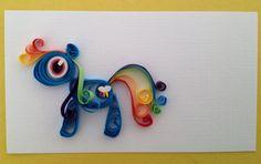 Quilling / Filigrana Rainbow Dash, my little pony