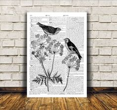 Awesome wall decor for home and office. Cute poster. Nice dictionary print. Bird art. SIZES: A4 (8.3 x 11) and A3 (11.6 x 16.3)  BUY 1 GET 1 FREE -