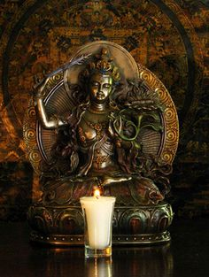 kelledia:  Manjushri Bodhisattva, whose flaming sword of wisdom cuts through all ignorance.  A great inspiration for students.