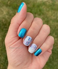 Space Case, Swiss and Tell, Less Bitter More Glitter Fancy Nails, Trendy Nails, Cute Nails, Nail Color Combos, Nail Colors, Aloha Nails, Multicolored Nails, Nail Candy, Gel Manicure