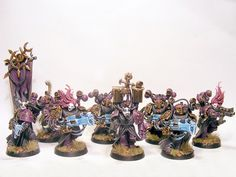 And a Third Heresy-Era Emperors Children Noise Marine Squad