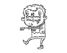 Dibujo de Chico zombie para colorear, imprimir o descargar. Colorea online con un juego para colorear de dibujos de Fiestas y podrás compartir y crear tu propia galería de dibujos online .