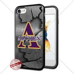 Metal,NCAA,Alcorn State Braves ,iPhone 7 Case Cover Protector for iPhone 7 TPU Rubber Case for Smartphone Black [By Shumma] -- Awesome products selected by Anna Churchill