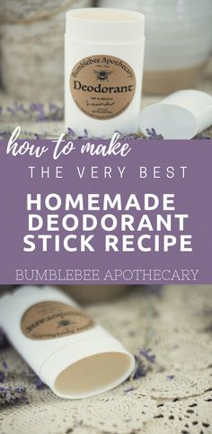 Homemade deodorant stick recipe | All natural organic deodorant stick with stability and just the right amount of glide #homemadedeodorant #organicdeodorant #safe #natural #nontoxic #GlowingSkinProducts Deodorant Recipes, Homemade Deodorant, Homemade Skin Care, Organic Beauty, Organic Skin Care, Natural Skin Care, Natural Beauty, Natural Oils, Natural Hair