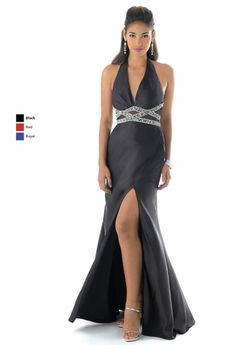 Black A-Line Deep V-Neck and Halter Backless Floor Length Prom Dresses With Sequined and High Slit Best Prom Dresses, V Neck Prom Dresses, Prom Dresses For Sale, Designer Prom Dresses, Homecoming Dresses, Backless Bridesmaid Dress, Black Bridesmaid Dresses, Long Formal Gowns, Prom Dress Shopping