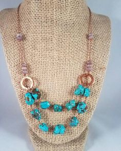 Hey, I found this really awesome Etsy listing at https://www.etsy.com/listing/496772155/genuine-turquoise-and-lepidolite-double