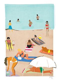 Amalfi beach · sullivanand3rd.com · #illustration #italy #splendidsummer