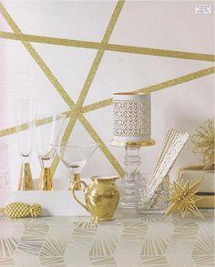 Gold glitter tape.