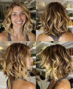 Soft+Layered+Curly+Bob | ... Saç ile Ombre Saç Rengi Modası - Ella