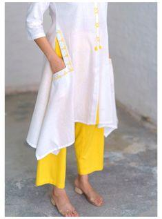 Simple Kurti Designs, New Kurti Designs, Kurta Designs Women, Kurti Designs Party Wear, Designs For Dresses, Blouse Designs, Pakistani Fashion Casual, Pakistani Dress Design, Khadi Kurta
