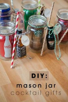 DIY Mason Jar Cocktails. Awesome gift for my neighbors