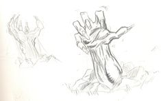 Sketch of zombie hands