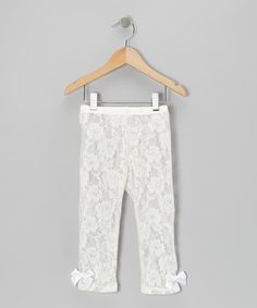 Take a look at this Ivory Lace Leggings - Toddler & Girls by Popatu by Posh